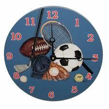 themed clock children s sports themed wall clocks