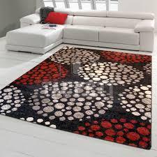 tappeto moderno rosso estro tappeto moderno egiziano cerchi simmetrici 4330 k top