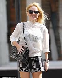 see thru blouse pics geri halliwell wears a see through blouse as brand is