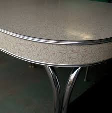 Retro Kitchen Table by Vintage Formica And Chrome Table With Boomerang Pattern Love This