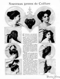 women hairstyle france 1919 for long haired lasses 1910 instructions for creating a classic