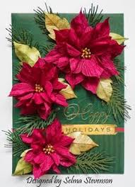 Christmas Crepe Paper Decorations by Diy Crepe Paper Poinsettia Great Photo Tutorial Just Beautiful