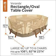 Furniture Patio Covers by Amazon Com Classic Accessories Veranda Oval Rectangular Patio
