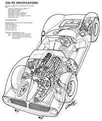 ferrari front drawing ferrari p2 group 6 1965 racing cars