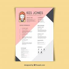 designer resume template graphic designer resume template vector free