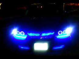04 impala led tail lights 2004 impala mesh grill blue led projector lights 2 youtube