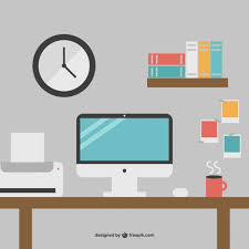 minimalist office desk minimalist office desk free graphics vector free vector download