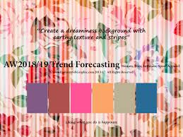 autumn winter 2018 2019 trend forecasting is a trend color guide