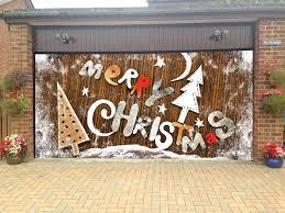 magic mesh garage door merry christmas garage door covers 3d banners holiday tree