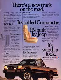 jeep comanche 1991 jeepers market jeep comanche pickup truck ad from 1986 jeep ads 1980s