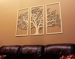 tree of life wall art 3d tree wood wall art and wood walls 3d tree of life 3 panel wood wall art beautiful living room decor by