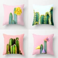 cactus home decor tropical green plant cactus throw pillow home decor living room sofa