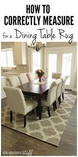 How To Correctly Measure For A Dining Room Table Rug And The Best - Rugs for dining room