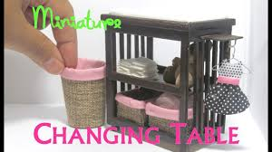 Diy Dollhouse Furniture Diy Changing Table And Baskets Dollhouse Furniture Miniature