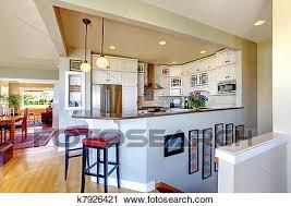 cuisine interieur design banques de photographies cuisine intérieur design blanc