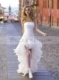 robe de mari e original de mariée organza originale bustier courte devant longue derrière