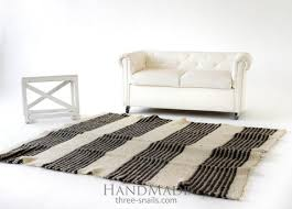 Black And White Living Room Rug Wool Rugs And Carpets Scandinavian Interior Design Three Snails