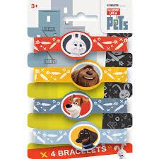 party favor bracelets the secret of pets rubber bracelet party favors 4ct