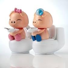 online shop novelty creative christmas gift cute toilet pig solar