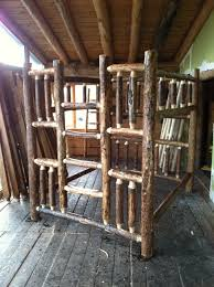 Plans For Building Log Bunk B by Arizona Log Bunk Beds Strong For Bark Idolza