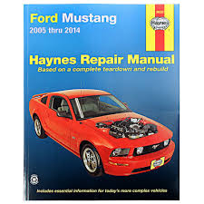 mustang haynes repair manual 2005 2014 cj pony parts