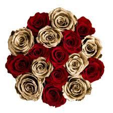 gold roses the million basic box black gold eternity roses