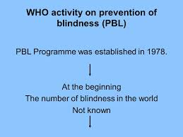 Blindness In The World Community Ophthalmology Ppt Video Online Download