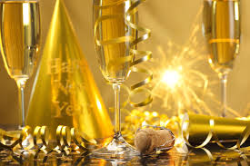 new years streamers new year chagne happy new year streamers celebration golden