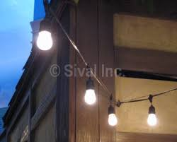 String Lighting For Patio Commercial Grade String Lights Patio String Lights Bistro String