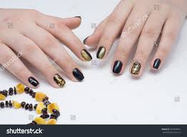 beautiful natural nails hand ideal clean stock photo 570104014