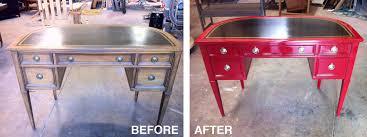 red lacquered leather top desk u2014 hodgson antique furniture restoration