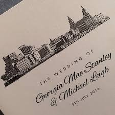 wedding invitations liverpool liverpool skyline themed wedding invitation available in various