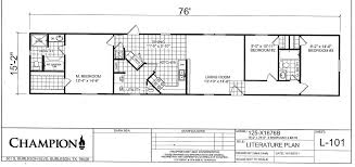 Champion Modular Home Floor Plans Champion Homes Single Wide Floor Plans