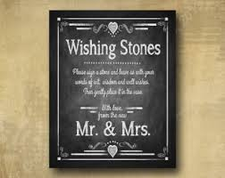 wishing rocks for wedding wishing stones sign etsy