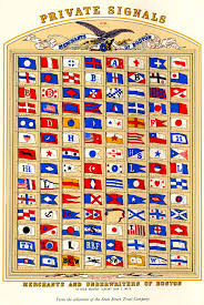 Flag Hoist Signaling Fitz Henry Lane Flags Lighthouses And Navigation Aids