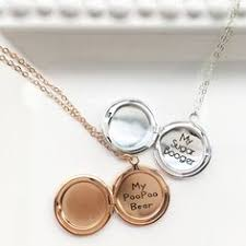 custom engraved lockets two mini lockets for two mini flower personalized wedding