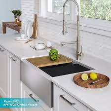 bowl kitchen sink for 30 inch cabinet kraus kore workstation 30 inch farmhouse flat apron front 16 single bowl stainless steel kitchen sink with accessories