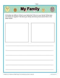 kindergarten writing prompt my family kindergarten writing