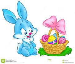bunny basket eggs happy easter bunny basket eggs illustration stock