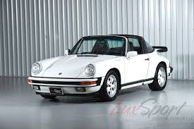 white porsche 911 1989 porsche 911 carrera 3 2 targa white black g50 20 000 one