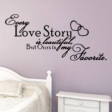every love story is beautiful love quote uk wall sticker