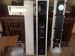 in wall home theater system pair of sonance silhouette ii signature series in wall speakers