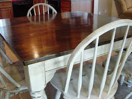 How To Repaint Wood Furniture by Remodelaholic Kitchen Table Refinished With Distressed Look