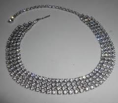black rhinestone necklace images Vintage rhinestone necklace ebay JPG
