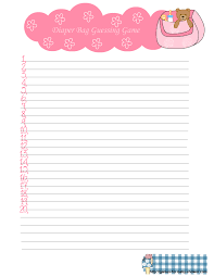 baby shower guessing free printable bag guessing for baby shower