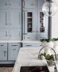 light greyish blue kitchen cabinets blue and white kitchen decor inspiration 40 gorgeous ideas