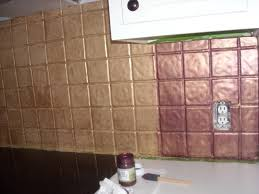 Metal Wall Tiles Kitchen Backsplash Yes You Can Paint Over Tile I Turned My Backsplash Kitchen