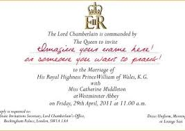 royal wedding invitation create you a replica william and kate royal wedding invitation and