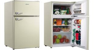 Cabinet For Mini Refrigerator Walmart Retro Mini Refrigerator U0026 Freezer Only 43 90 Shipped