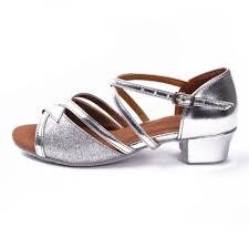 Comfort Ballroom Dance Shoes Wholesale 2016 Silver Latin Ballroom Dance Shoes Low Heel